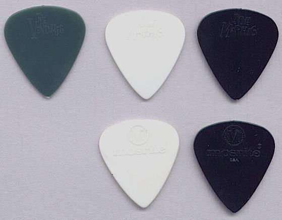 "6 x White /""The EBE/"" Original Thin Gauge Guitar Plectrums Picks"